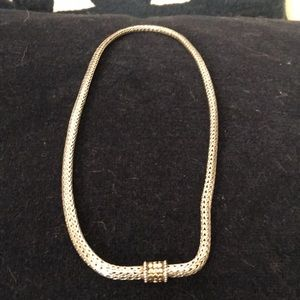 John Hardy Yellow gold & sterling silver necklace